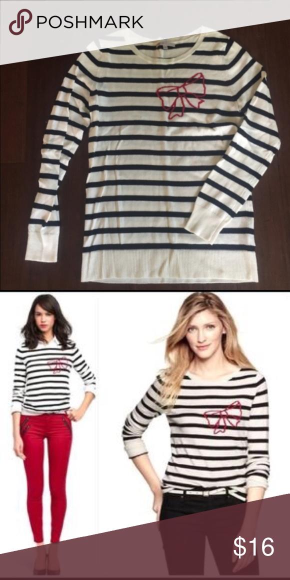 66327ba271 GAP Striped bow sweater
