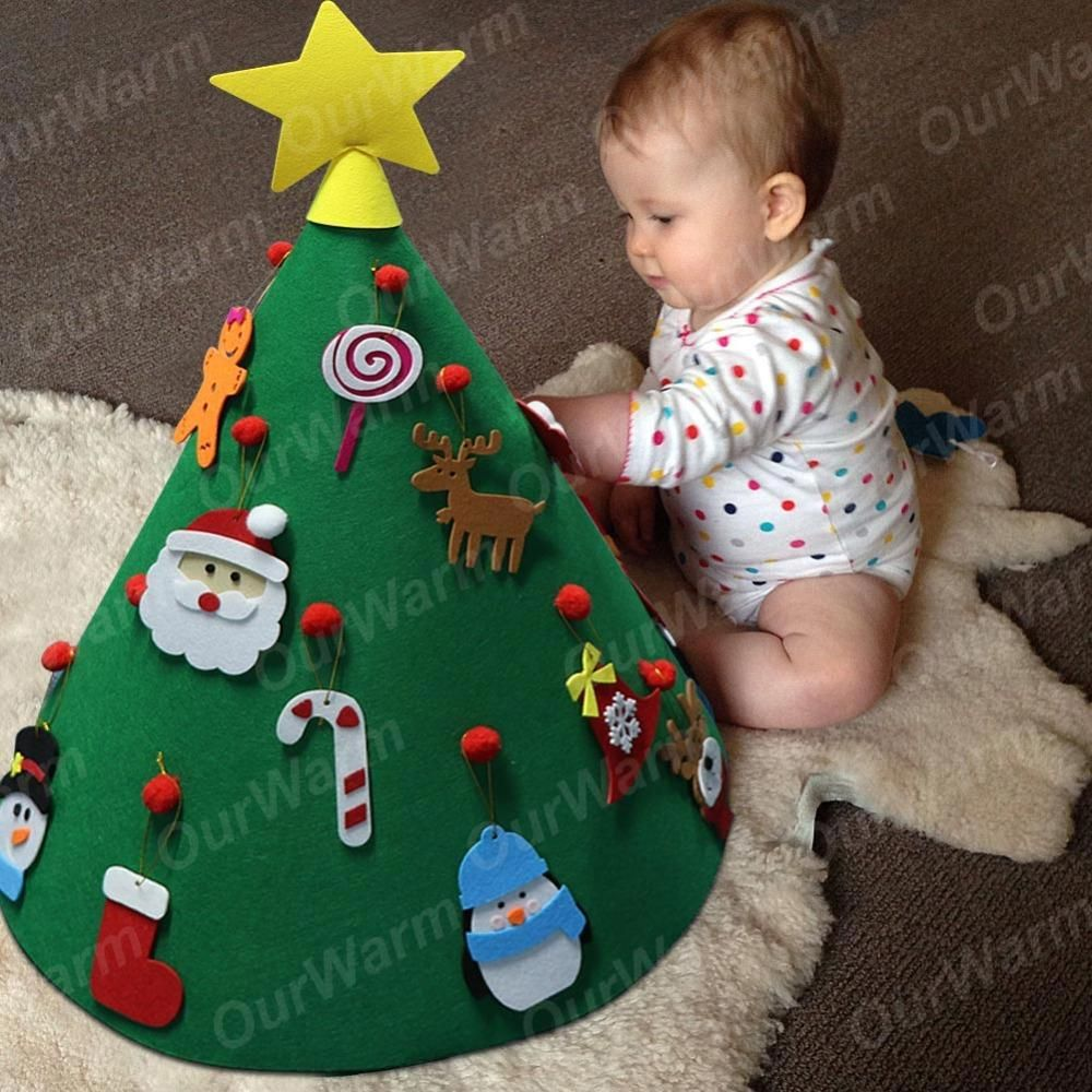 3d Diy Kids Gifts Christmas Tree Toys Basteln Weihnachten Filz Weihnachtsbaume Weihnachtliche Filzideen