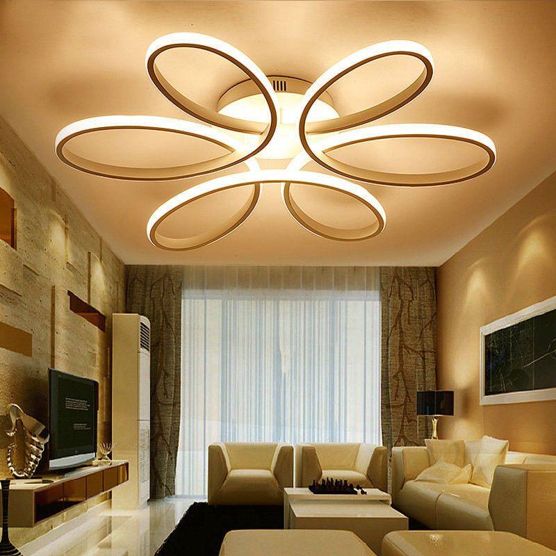 Modern Led Ceiling Lamp Romantic Flowers Bedroom Lighting Lights For Living Room Modernlamp Ledlamp Ceilinglamp Lightinglampsideas Light Iluminacao Casas