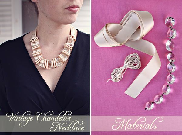 Diy do it yourself bridesmaid gift necklace satin vintage crystal diy do it yourself bridesmaid gift necklace satin vintage crystal anthropologie necklace solutioingenieria Choice Image