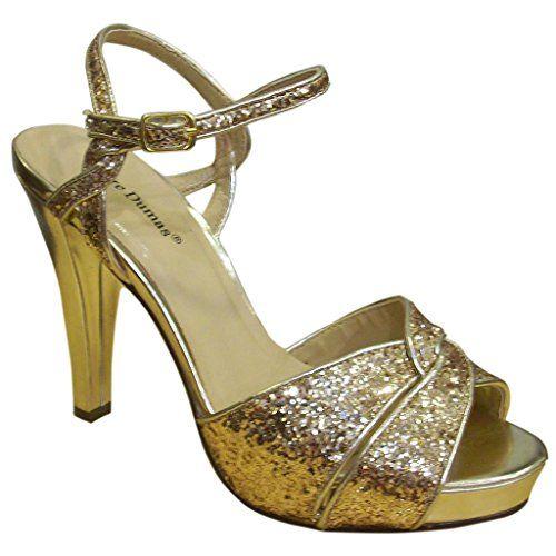 5b2da23a108 Pierre Dumas Womens Emy1 Gold Open Toe Platform Sandals10 -- Click image  for more details.