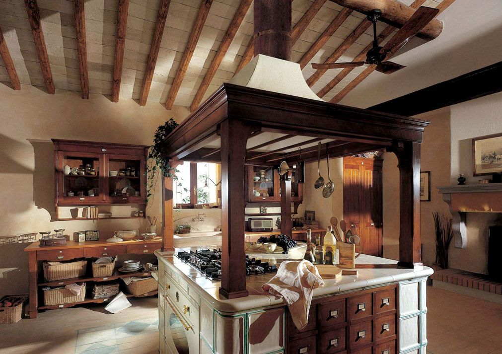 Marchi group hemingway cucina country rustica made in italy