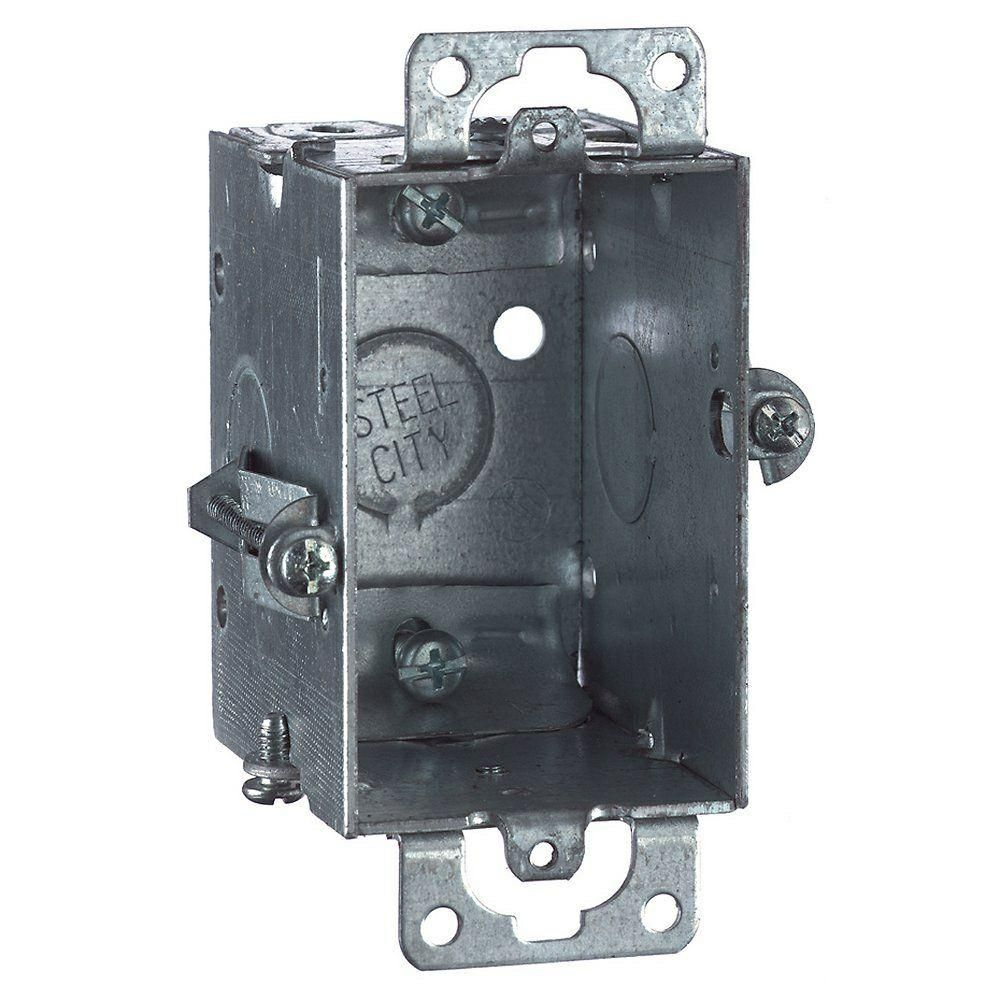 Steel City 1 Gang 2 1 2 In Deep Old Work Metal Electrical Box With Nm Clamp Case Of 20 Metal Electrical Box Steel Domestic Wiring