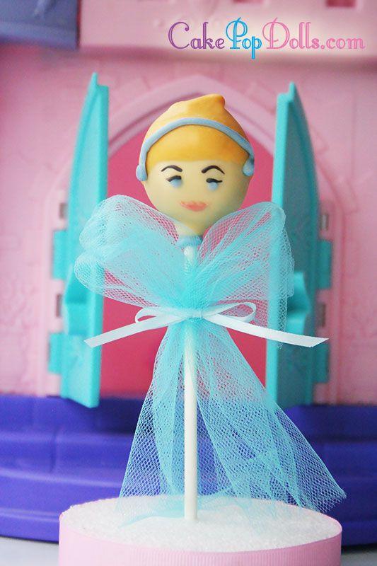 Princess Cinderella Cake Pops