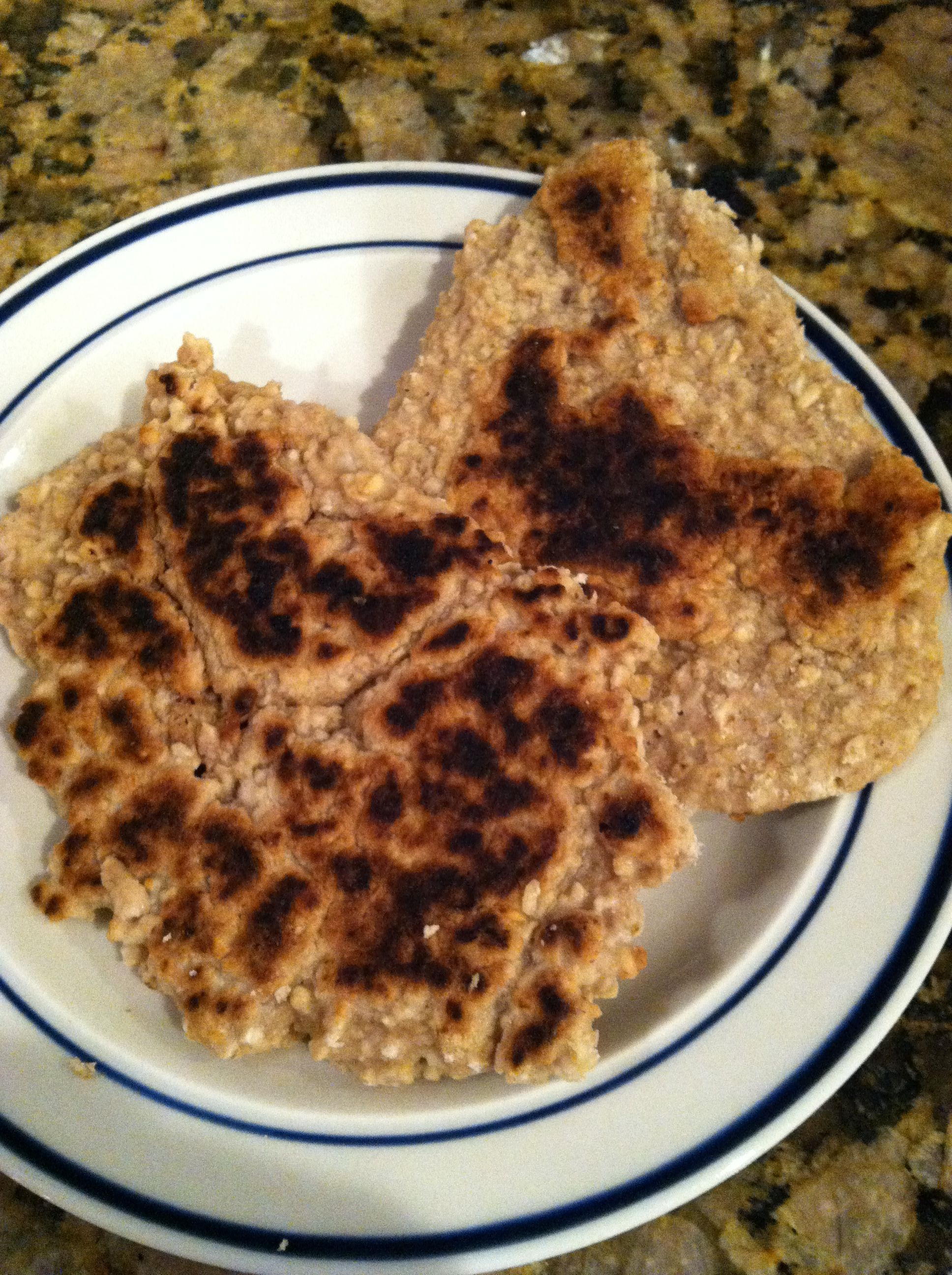 Banana Nut Oatcakes from Change Your Brain: This is an okay breakfast recipe.  Turned out a little chunky or hard, not like a real pancake which is soft and fluffy.  This has a hockey puck feel to it.  I prefer the Maple Pecan Breakfast Bars.