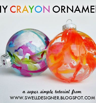 Easy crayon ornaments // Színes vidám karácsonyfa díszek zsírkrétával // Mindy - craft tutorial collection // #crafts #DIY #craftTutorial #tutorial #ChristmasCrafts #Christmas