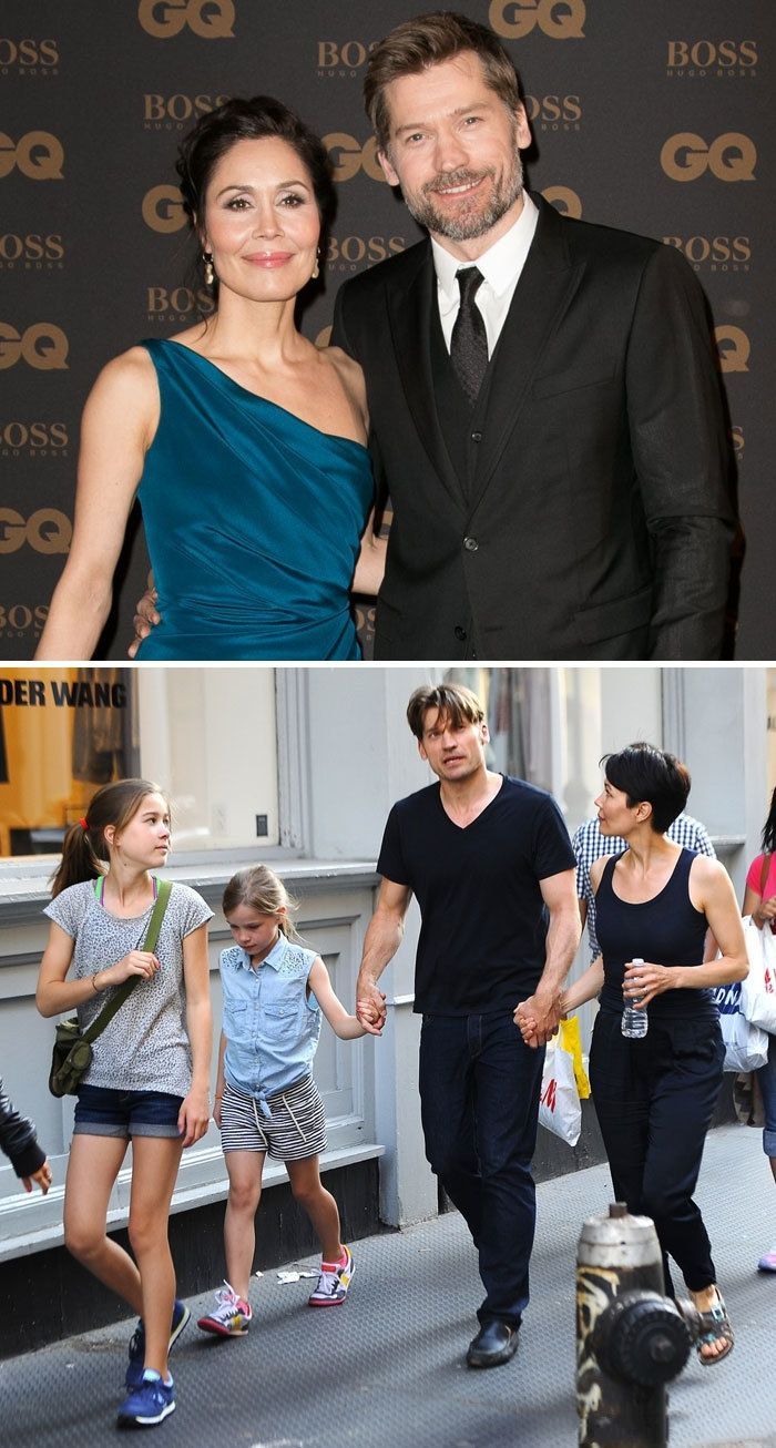 Nikolaj CosterWaldau (Jaime Lannister) And His Wife