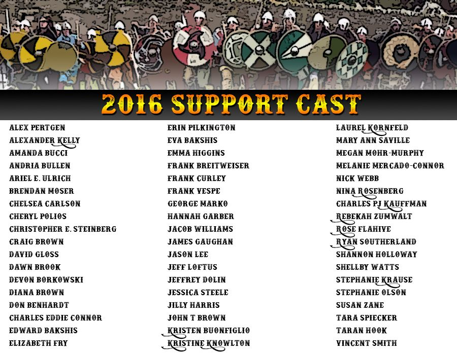 Our 2016 Support Cast! www.njrenfaire.com