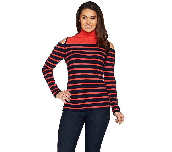 d7afac49a8eb75 Don t turn a cold shoulder on this Susan Graver sweater. Page 1 QVC ...
