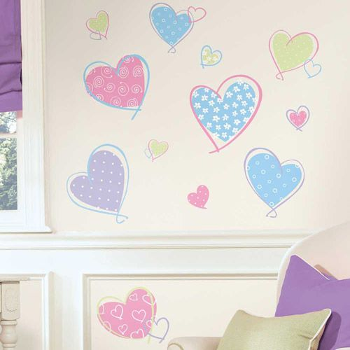 Heart stickers in mos pretty colours