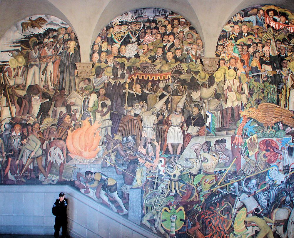 Part Of Diego Rivera S Mural Depicting Mexico S History Palacio