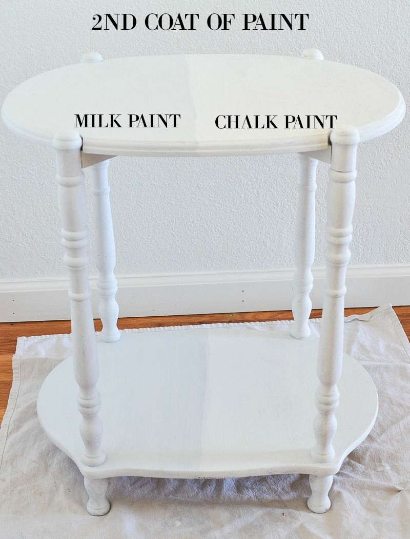 Paint Projects Rust Oleum Milk Paint Vs Chalked Paint Sarah Joy Blog Milk Paint Furniture Milk Paint White Chalk Paint Furniture