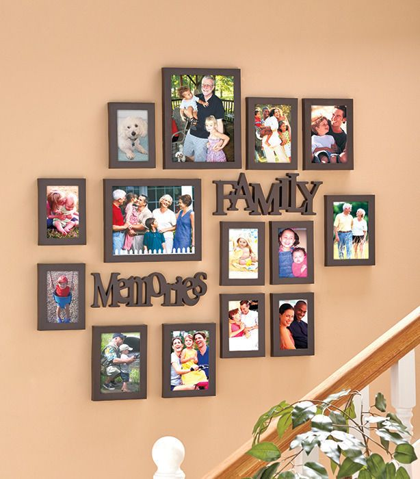 16pc Or 8pc Multi Photo Picture Collage Wall Table Frame Family