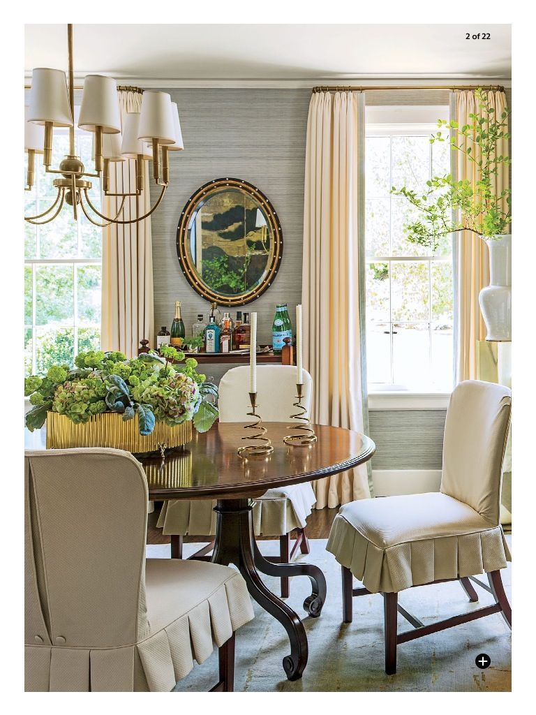 In Southern Living this month. I love the blue grass cloth. | Formal ...