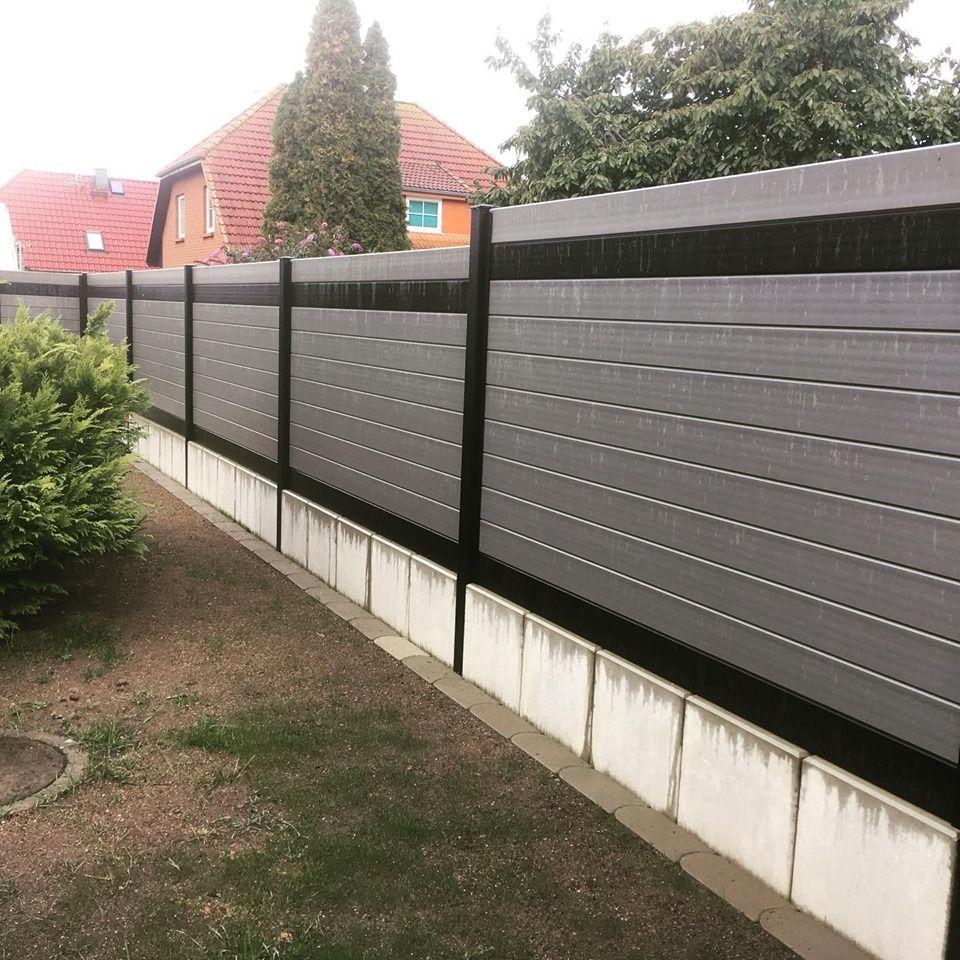 Wpc Zaun Wpc Zaun Zaune Sichtschutz Zaun Windschutz Grau Design