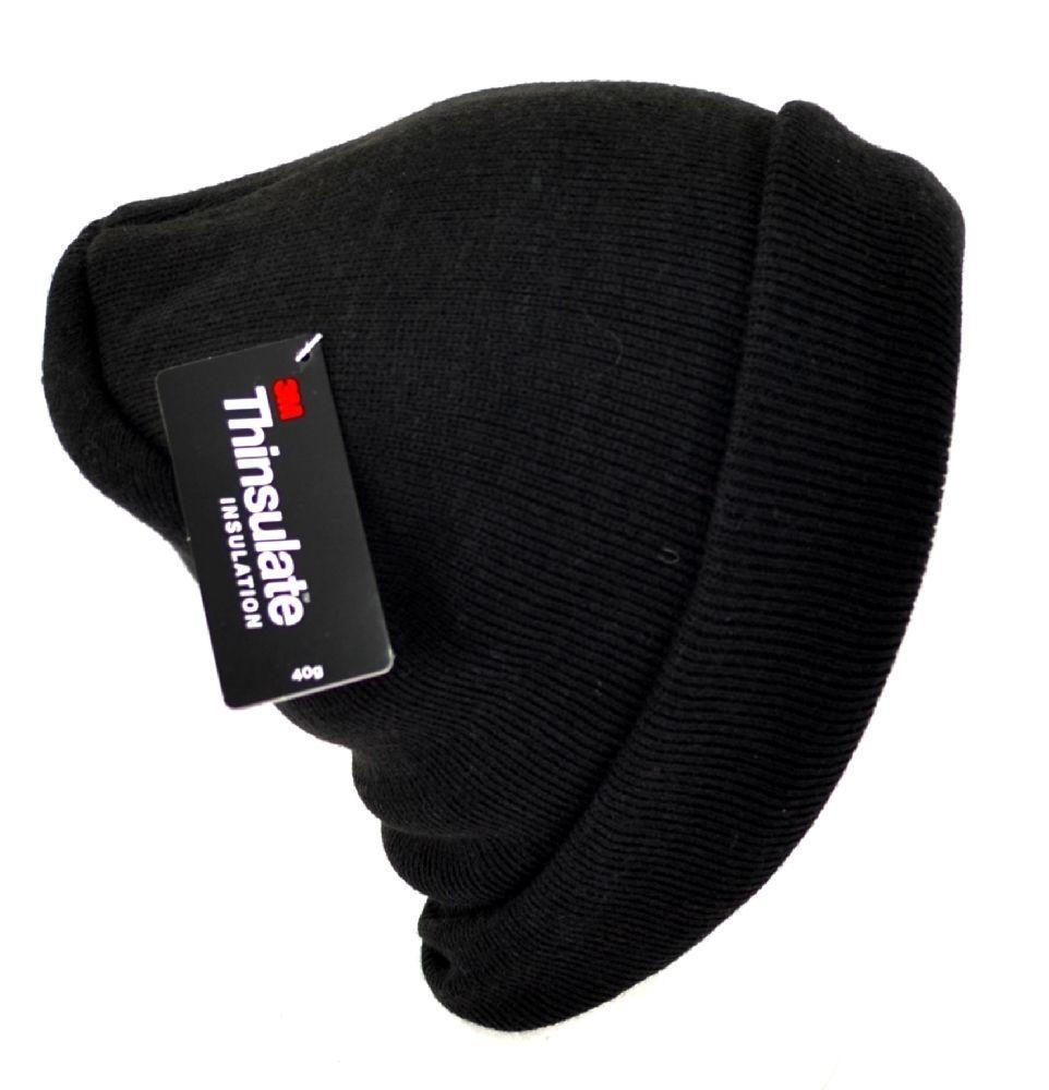 Winter Tek Gear Men Stretch Beanie Black Warm Tek Thinsulate Headwear 1Size  3093  TekGear  Beanie 272c8f8d47f5