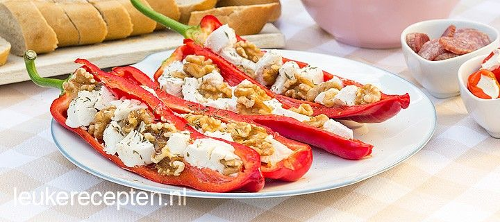Puntpaprika's met Ricotta & Mascarpone | BBQ Recepten | BBQ
