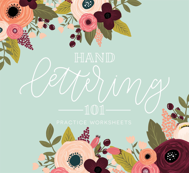 Hand Lettering Practice Worksheets Handlettering Practice