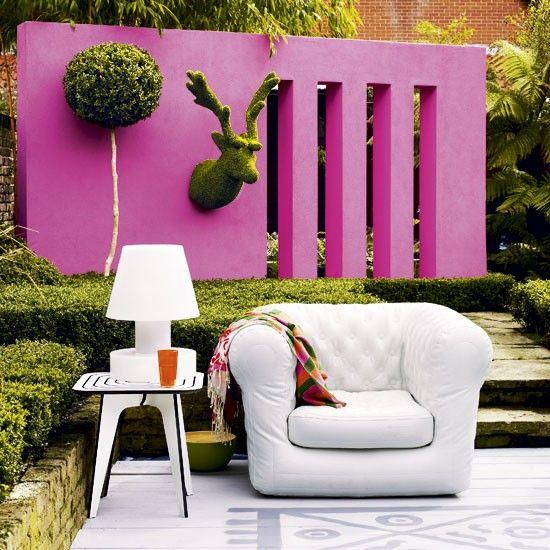 Colourful garden wall | Pinterest | Gardens, Walls and Decking