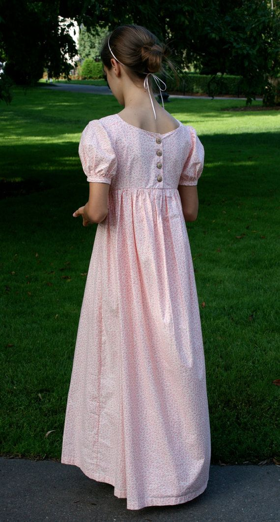 CUSTOM Regency Dress Jane Austen Gown Made to Order Just for You ...