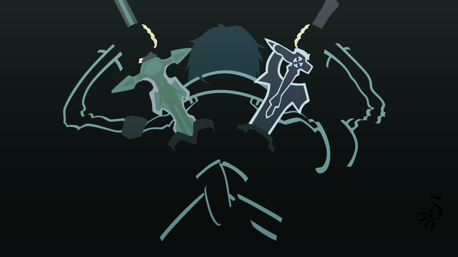 Sword art online kirito by on for Minimal art online