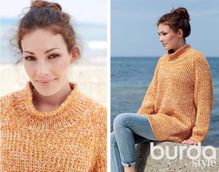 длинный свитер схема вязания спицами вяжем пуловеры на Verenaru