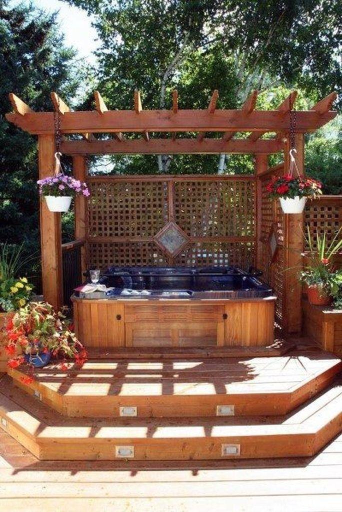 25 Best Backyard Hot Tub Deck Design Ideas for Relaxing #hottubdeck