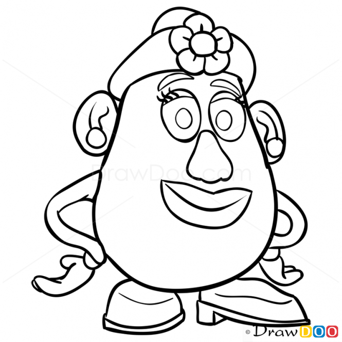 How To Draw Mrs Potato Head Toy Story Toy Story Coloring Pages Disney Art Drawings Toy Story Crafts
