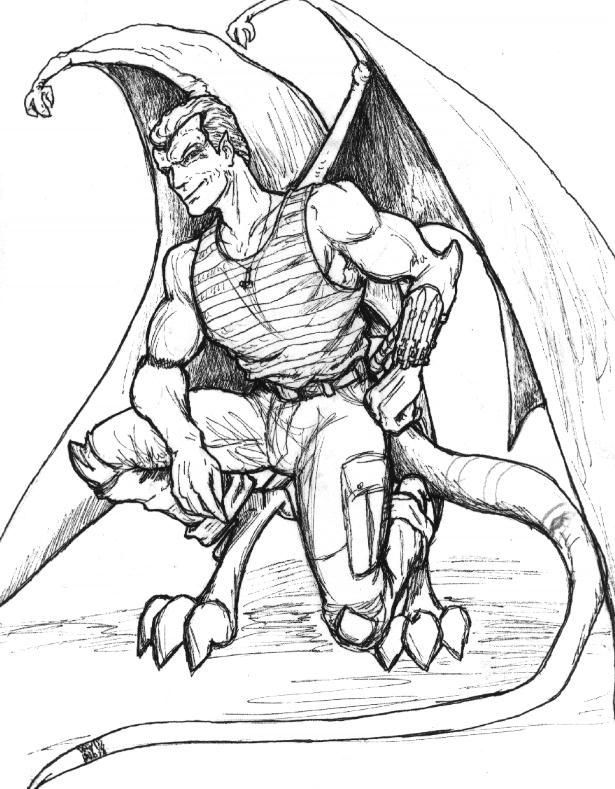 Gargoyle Line Art Bing Images Art Line Art Gargoyles