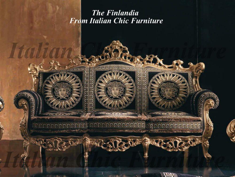 Finlandia Fabric Sofa Italian Sofa Italian Leather Sofa Versace Furniture