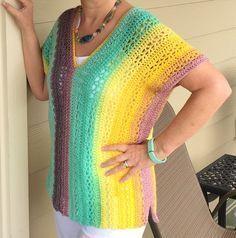 The Vanier V-Neck Tunic By Jennifer Ozses - Free Crochet Pattern - (ravelry) #crochetsweaterpatternwomen