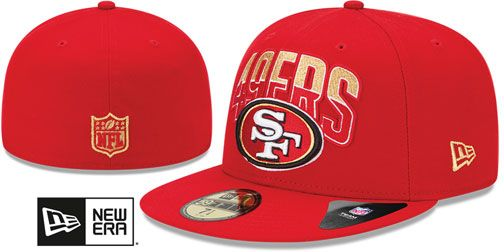 49ers NFL 2013 DRAFT Red 59FIFTY Fitted Hat by New Era on hatland ... f63730972