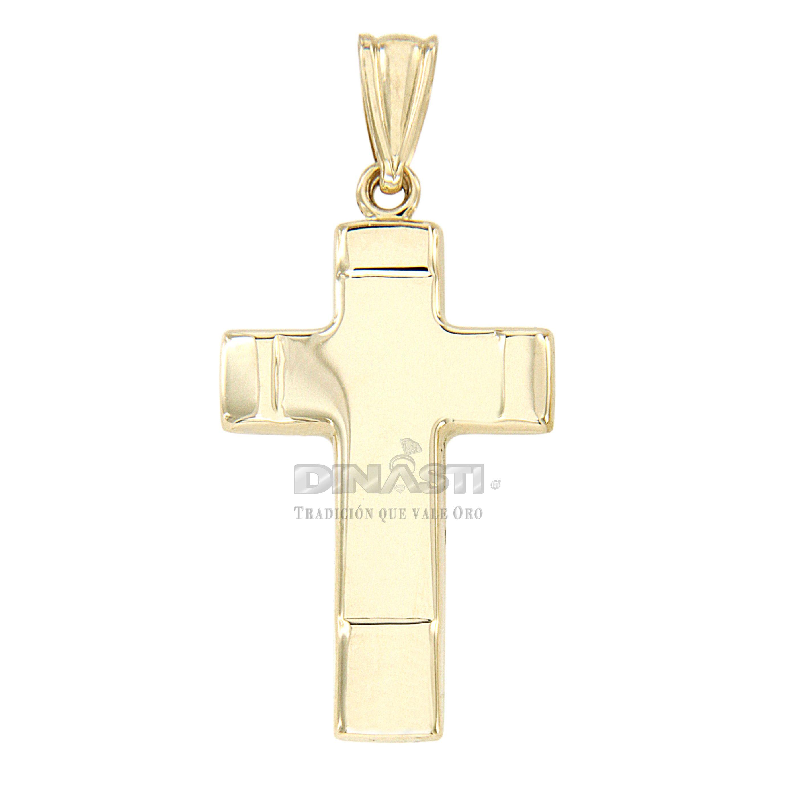 SKU 0006 CRUZ CUADRADA ORO AMARILLO LIZA EN LA SUPERFICIE Y PUNTAS LISAS ventas@dinasti.com #ReligiousCharm #fashion #jewelry #Cristosdeoro #cristos #cruces #articulosreligiosos #dijesreligiosos