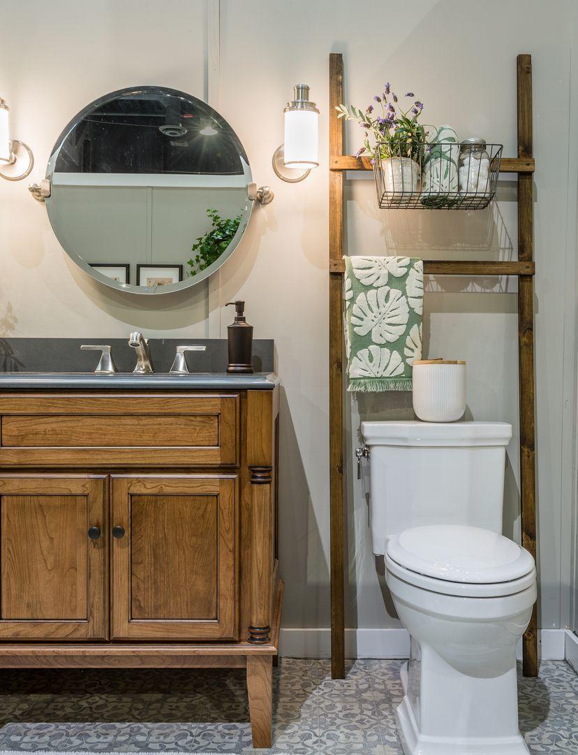 Bathroom Ladder Handmade Bath Ladder Over Toilet Storage Rustic Wood Vanity With Dark Top Charcoal G Toilet Storage Bathroom Storage Small Bathroom Storage