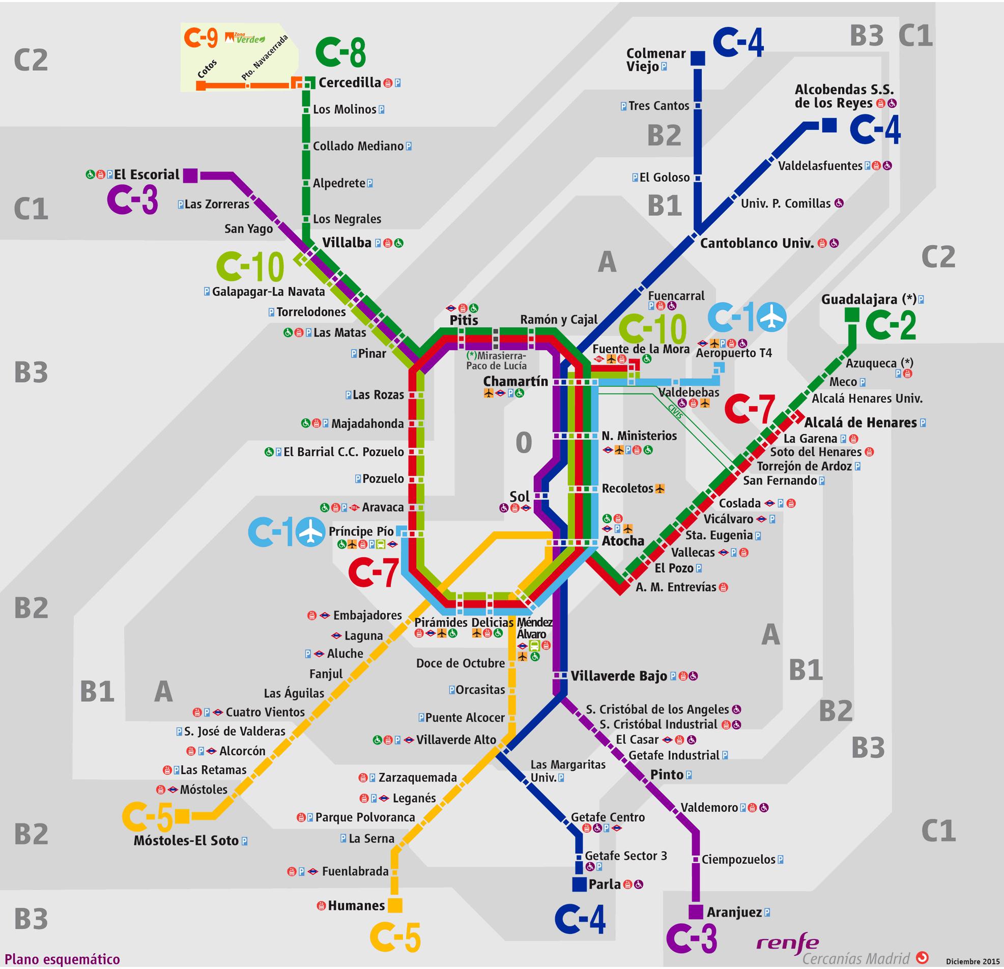 Cercanias renfe madrid mapa for Oficinas de renfe en madrid