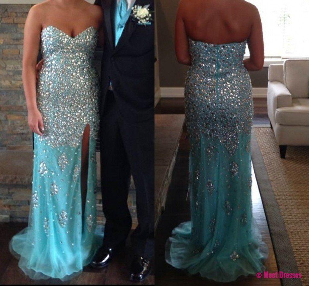 Blue prom dressesmermaid prom dressbeaded prom gownmermaid prom
