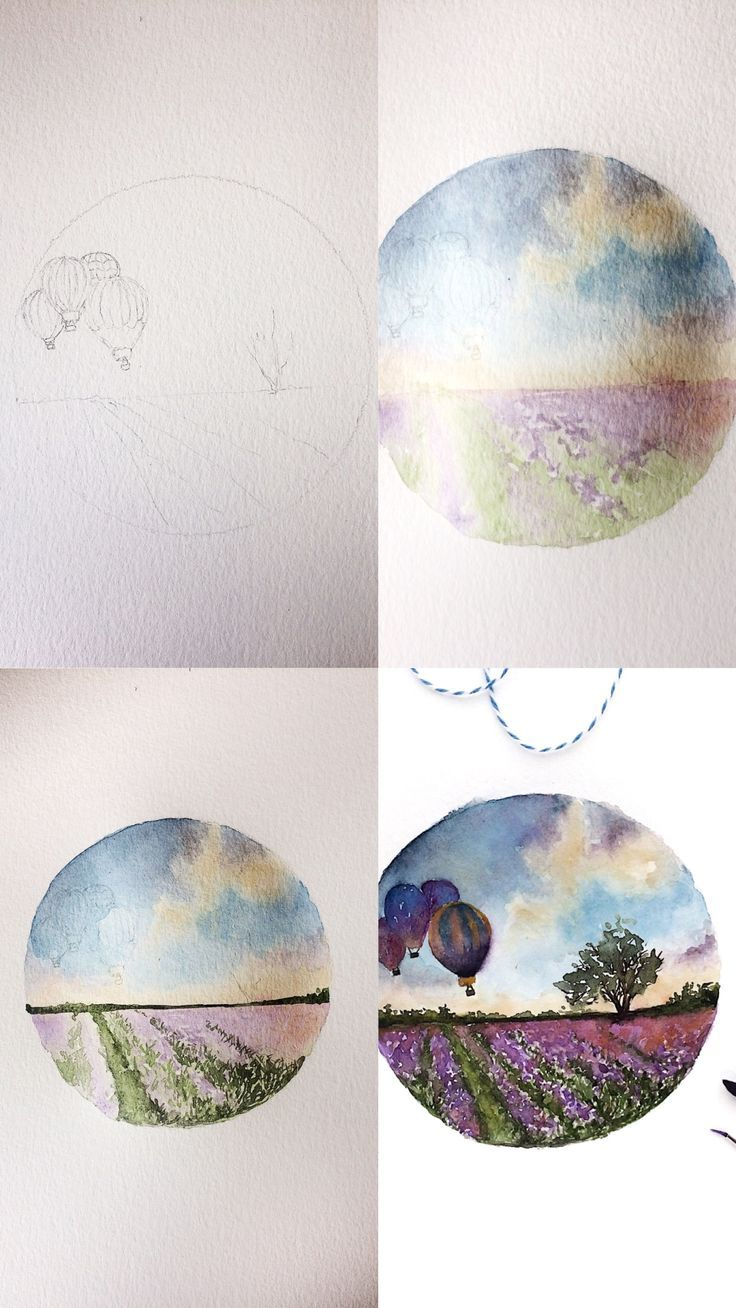 Photo of (Rosie Shriver.sketchbook) Process photos for watercolor painting. #watercolor #wat …..