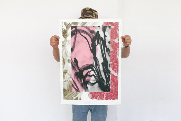 Tomek limited screen print for DRAW A LINE