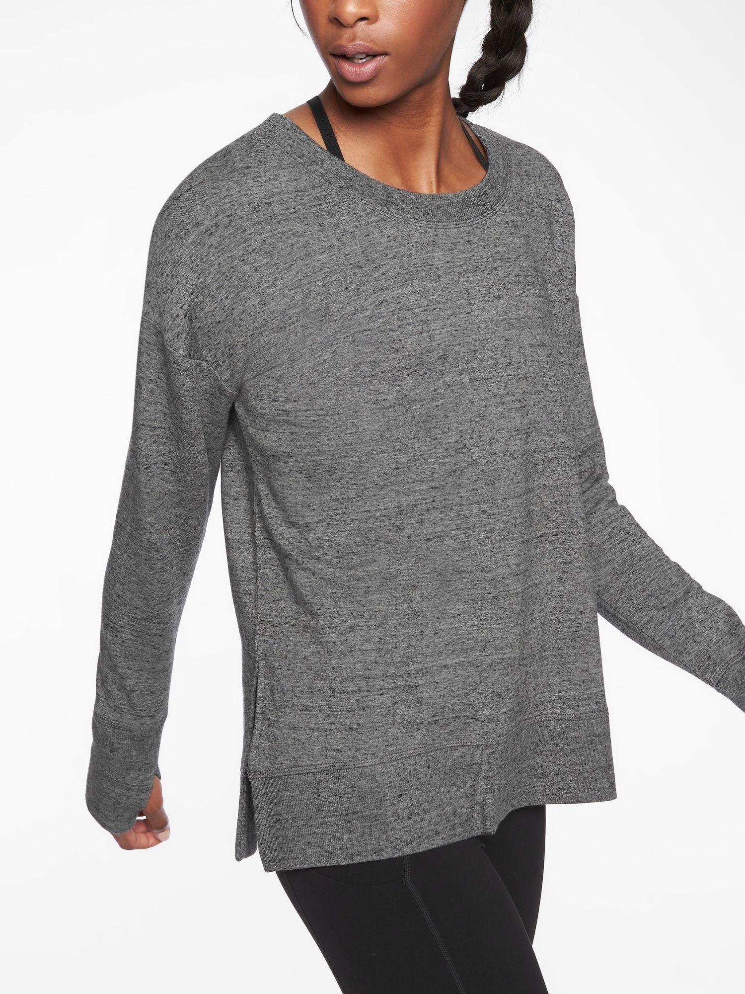 Coaster Luxe Sweatshirt Athleta Workout Tops For Women Athletic Tops Women Sweatshirts Women [ 2000 x 1500 Pixel ]
