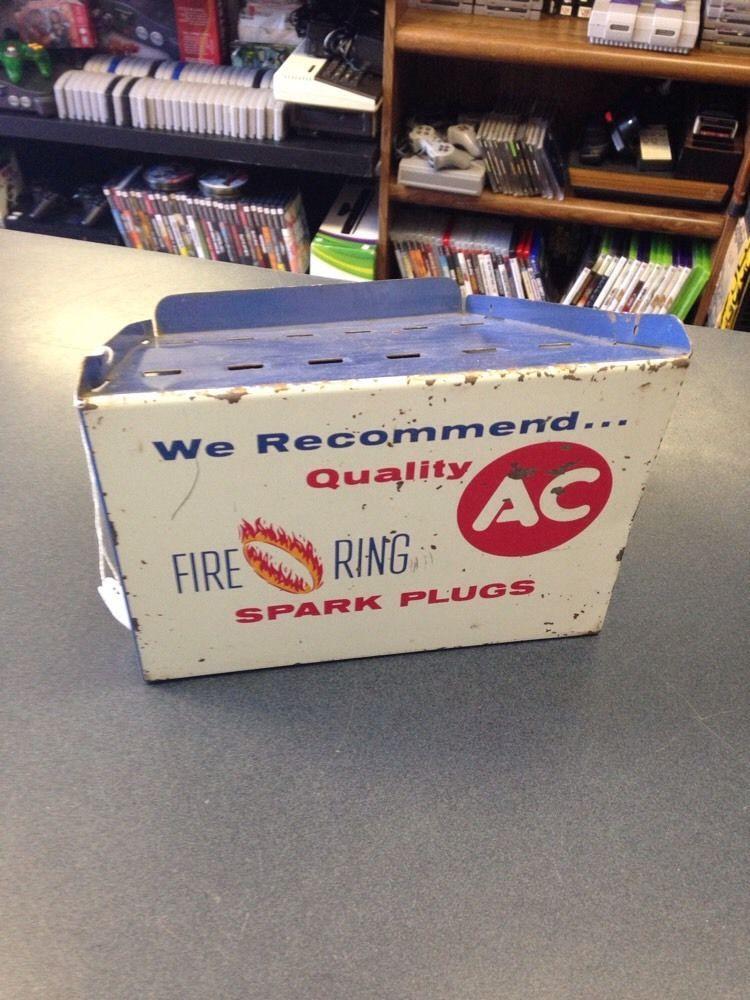 Vintage 60's Parts Store Dealership AC Fire Plugs Sparkplug Parts Book Display   eBay