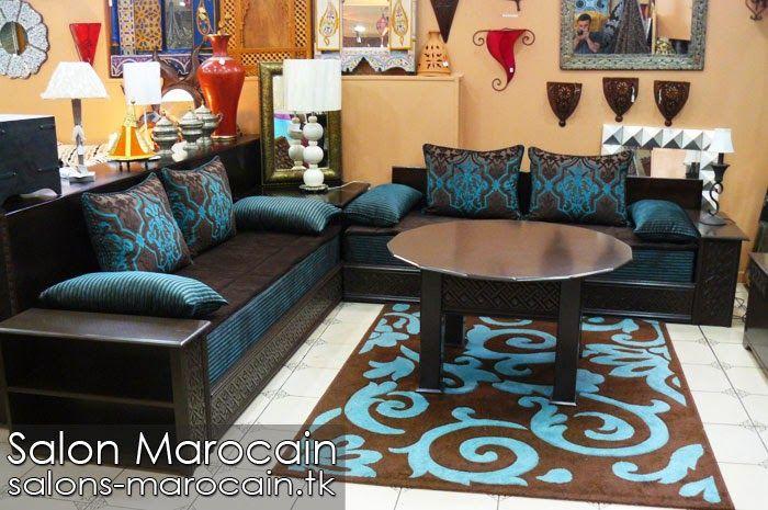 Awesome Salon Marocain Bleu Et Marron Images - Awesome Interior ...