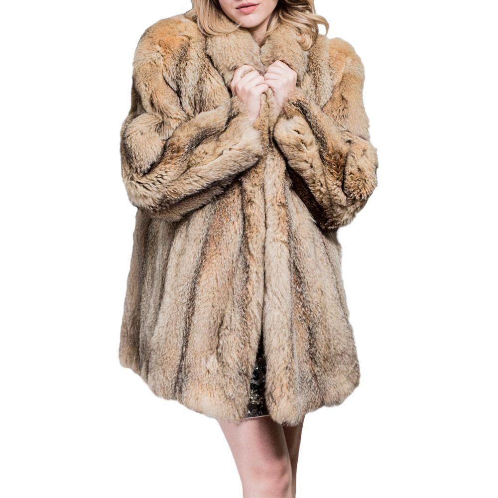 Casaco de Pele Natural Comprido | Brechó de luxo prettynew