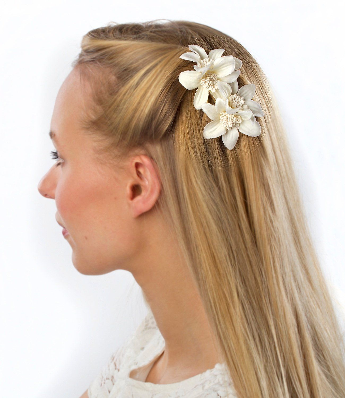 4 Haarclips Haarspangen Haarklammern Haarschmuck NEU