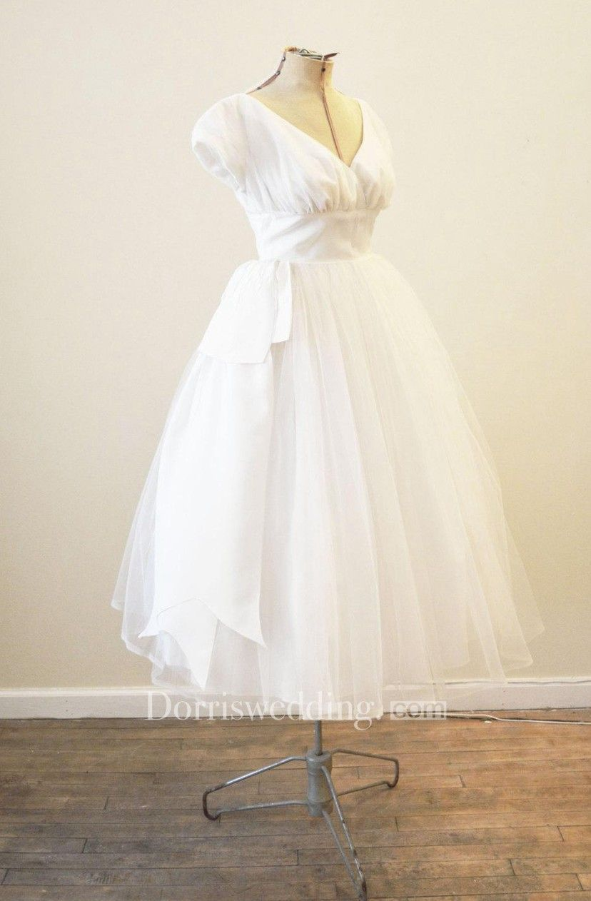 Scoop Neck Sleeveless Pleated Knee Length Tulle Dress With