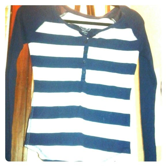 Thermal sweater Navy blue and grey half button up sweater ...