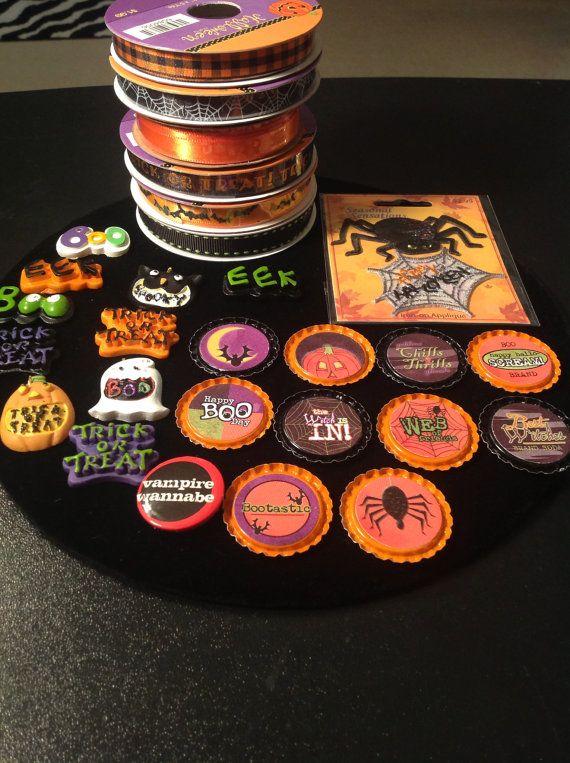 Halloween DIY Craft Kit H3 MIXED LOT Ribbon by PinksParlor on Etsy - halloween diy crafts