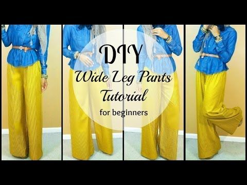 ▶ DIY | How to Sew Wide leg Pants | For Beginners - YouTube | Sew ...