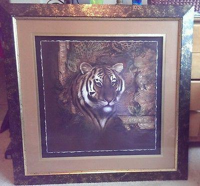 Rare Home Interior Tiger Print