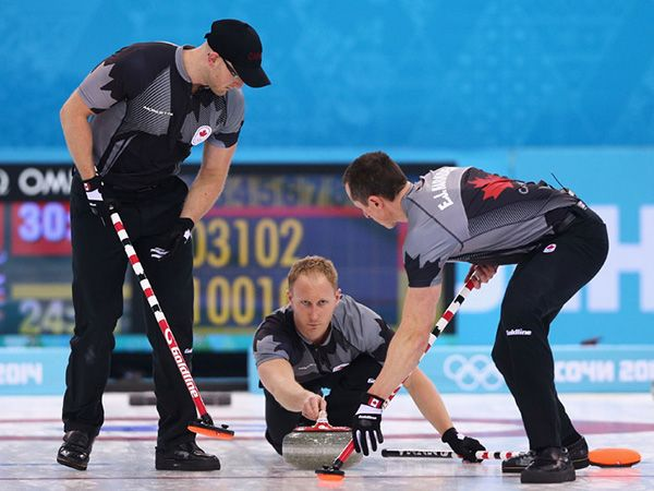 Canada won their third successive Olympic men's curling title with a powerhouse 9-3 victory over Great Britain in the final. Sochi 2014.