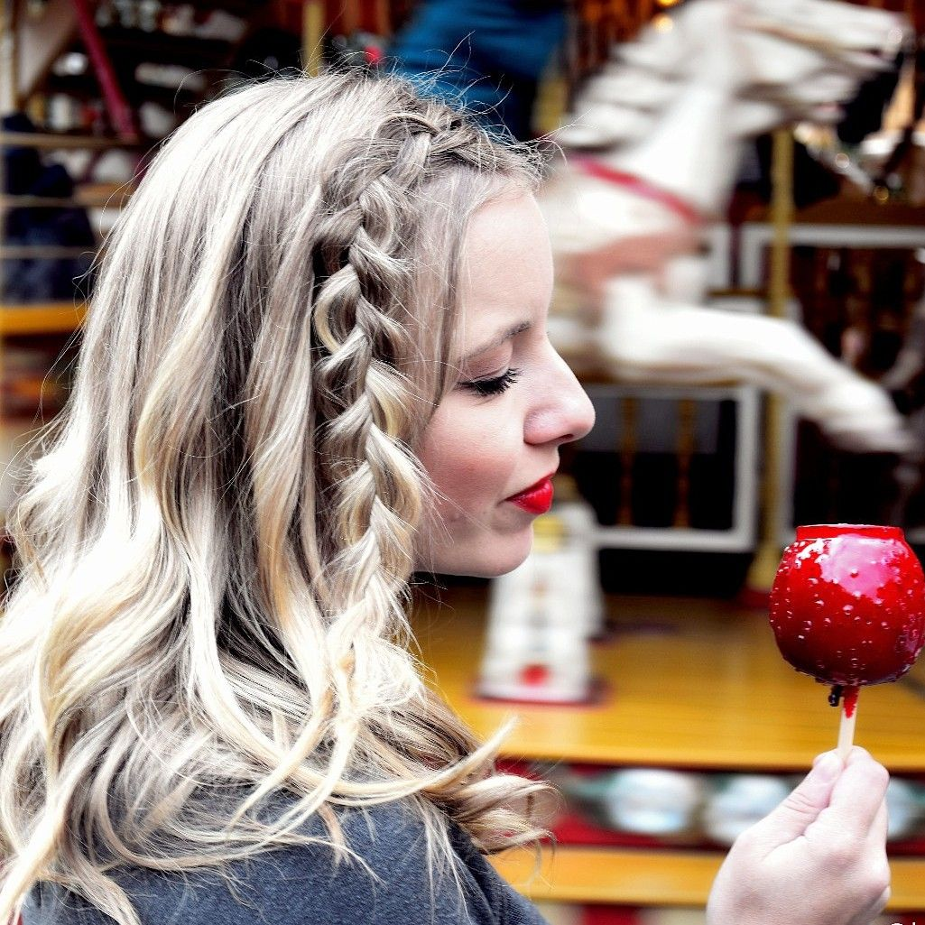 Halfup Side Dutch Braid Wavy Hair Pinterest Dutch Braids And